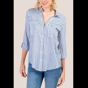 Francesca's - Therese striped button down